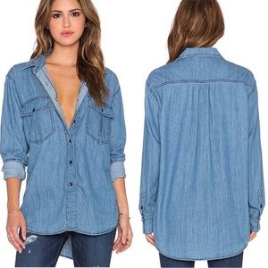 Free People XO Chambray Top